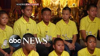 Young soccer players rescued from Thai cave recount harrowing encounter