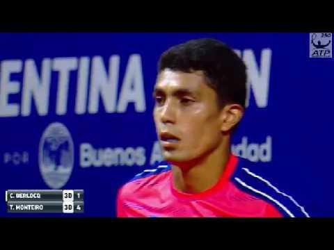 Thiago Monteiro vs Carlos Berlocq 1 set Buenos Aires ATP 250