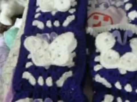 Set de ba o tejido youtube for Set de bano tejidos