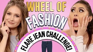 FLARE JEANS CHALLENGE Wheel Of Fashion w/ Roxette Arisa & Courtney Randall