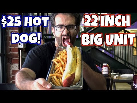 "22"" Big Unit Hot Dog Challenge at Alice Cooper's Town - Biggest in Phoenix? 