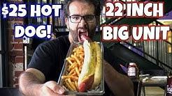 "22"" Big Unit Hot Dog Challenge at Alice Cooper's Town - Biggest in Phoenix? | Freak Eating"