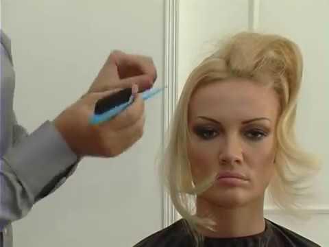 Причёска с круглым валиком для волос