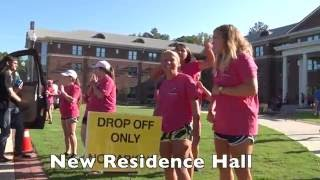 Freshman Move In Day at Lander University in Greenwood, South Carolina