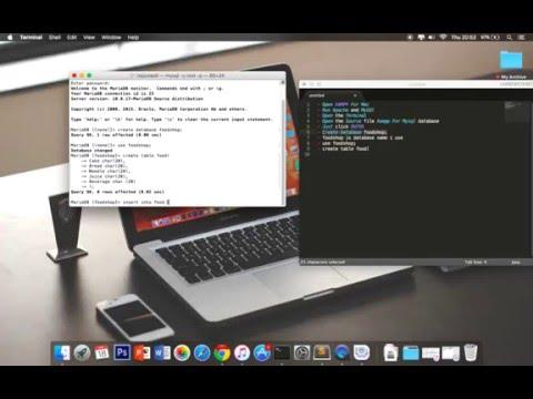 How to Create MySQL Database Xampp Terminal Mac