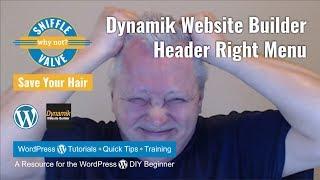 Dynamik Website Builder - Header Right Menu