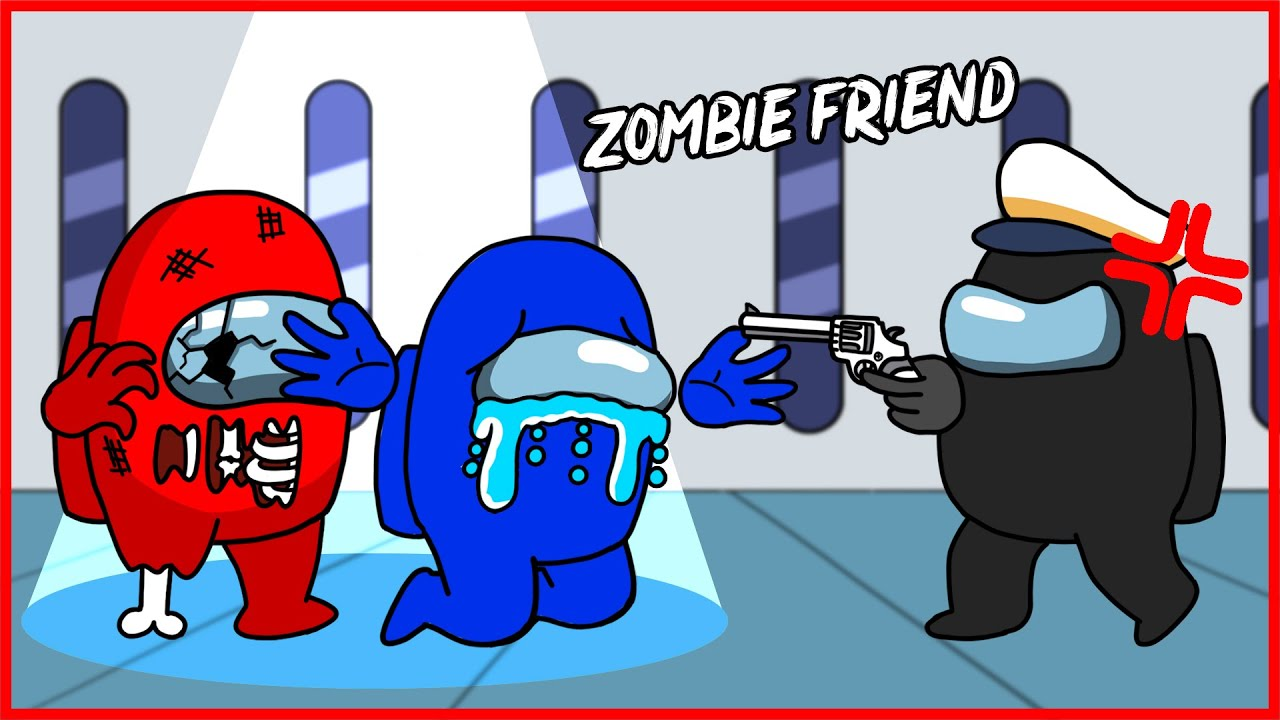 CREWMATE EVERY DAY LIFE ANIMATION - ZOMBIE CREWMATE FRIEND