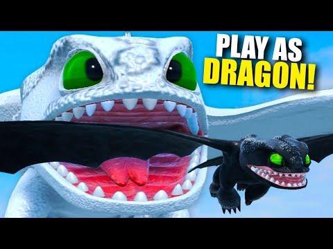 Giant TITAN Toothless Dragon Devours The Server! Play As Dragon Gameplay - Dragons of the Edge