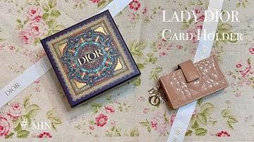 디올 아코디언 카드지갑 언박싱, 교환   새로 산 가방에 커피 쏟기   LADY DIOR Card Holder
