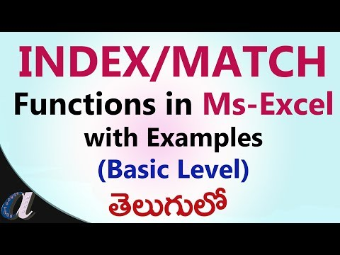 Using INDEX & MATCH  Formulas in Ms-Excel with Example(Basic Level)  in Telugu || computersadda.com