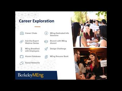 UC Berkeley Master of Engineering: Online Information Session, Careers