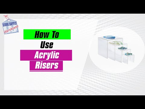 How to Use Acrylic Risers on a Tabletop Display