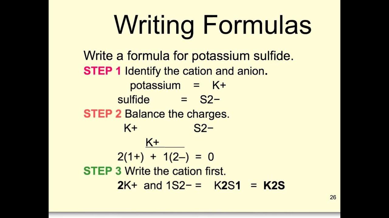 Chemistry Formula Writing Help! Chemistry 11.11 Formula Writing
