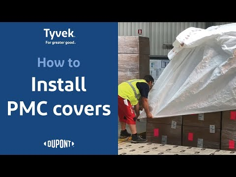 How to Install DuPont™ Tyvek® Cargo Covers - PMC pallet covers