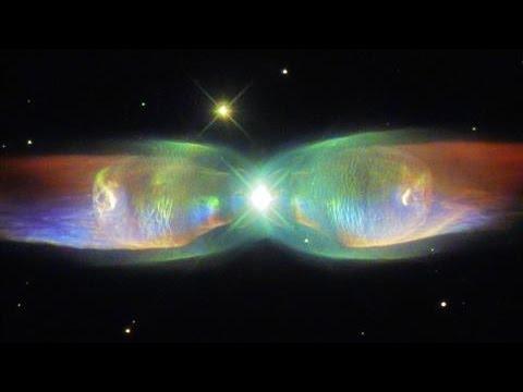 Hubble Spots Shimmering Butterfly In Space