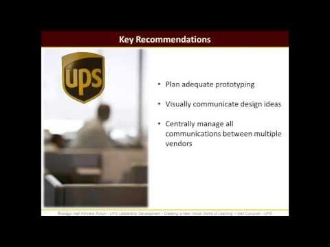 UPS Leadership Development- Webinar Recording