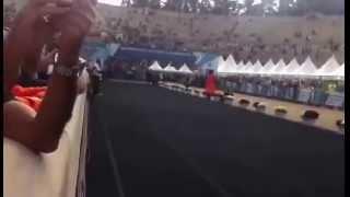 Финиш победителя Настоящего Афинского Марафона 2014-  Феликса Кэди