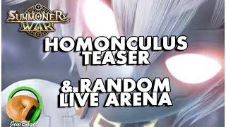 SUMMONERS WAR: Homonculus Event Teaser + Random Live Arena Event