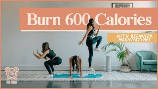BURN 600 CALORIES with this 45-minute cardio workout (No Equipment!)