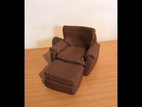 Fondant Leather Sofa And Foot Puff Tutorial