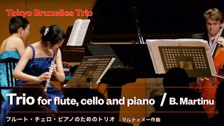 Martinue - Trio for flute, cello and piano