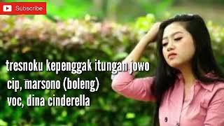 Tresnoku Kepenggak Itungan Jowo Voc, Dina Cinderella