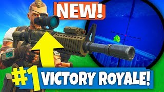 Using *ONLY* THERMAL SCOPED AR To WIN FORTNITE! (Fortnite Update 4.4)
