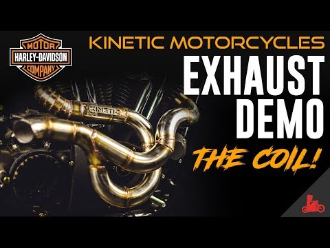 Harley-Davidson Exhaust Demo: 'The Coil' by Kinetic Motorcycles