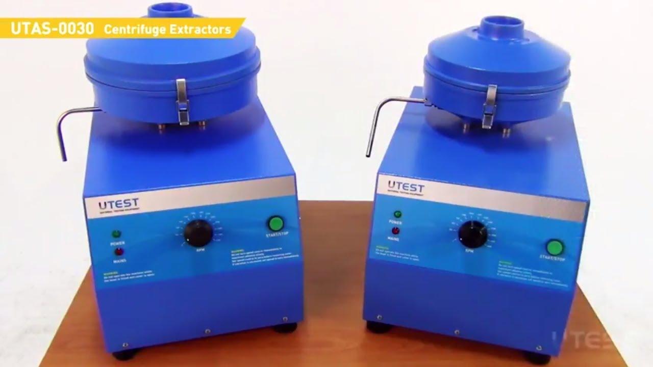 Utas 0030 Centrifuge Extractors En Youtube