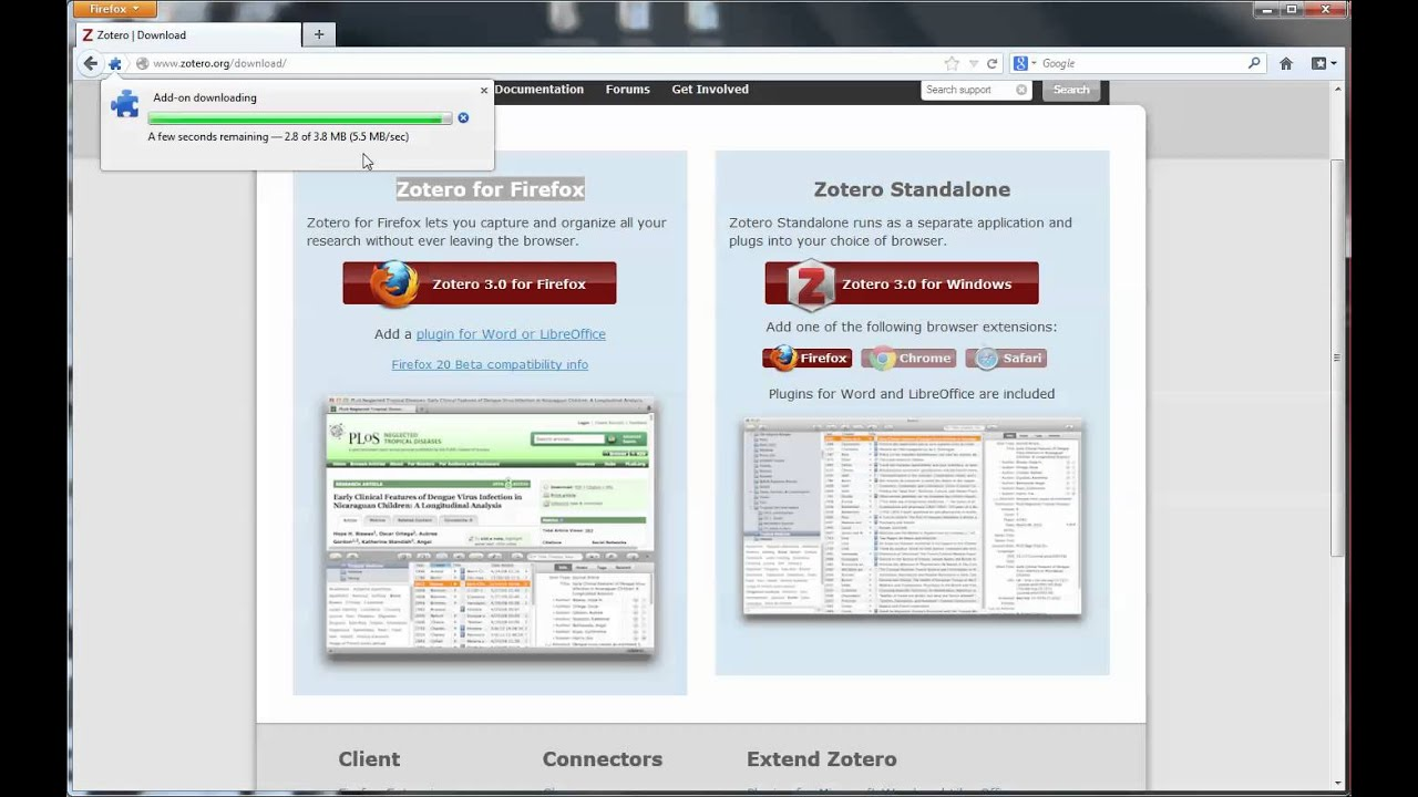 Getting Started with Zotero: Installing the Firefox Extension