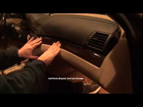 BMW 3 Series E46 Wood Trim Above Glove Box And Radio Removal and