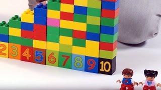 Поиграйка с Егором - Учим цифры с кубиками и строим дом