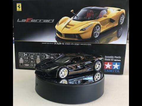Building the Tamiya 1/24 La Ferrari Yellow but we end up making it black