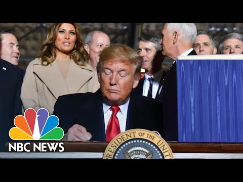 President Donald Trump Signs NDAA, Authorizes Space Force | NBC News