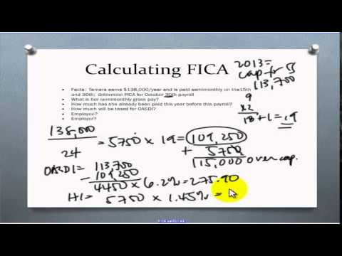 FICA Taxes for