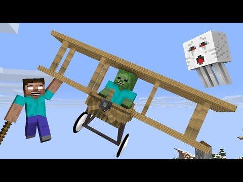 Monster School: Airplane Challenge - Minecraft Animation