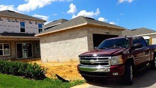 Как строят ДОМ в США, ОБЗОР строящегося дома в Орландо