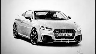 Audi TT RS Drawing Time-Lapse