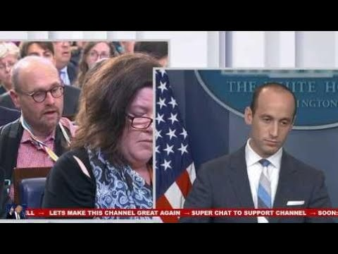 Stephen Miller Destroys Cnn Jim Acosta At White House Press Briefing On Immigration 8/2/17