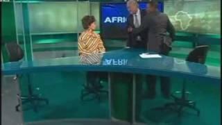 AWB Secretary General Andrie Visagie in TV studio bust up