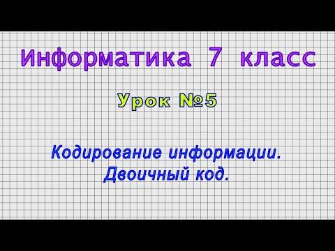 Видеоуроки по информатике 7 класс скачать бесплатно