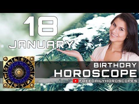 January 18 - Birthday Horoscope Personality