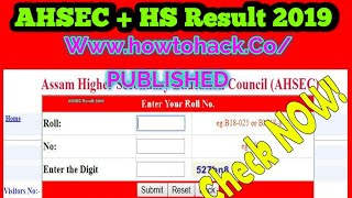 HS Result 2018: How to Check Assam HS Result 2018,AHSEC Result 2018 - HowToHack