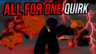 [EVERY CODES!] NEW *ALL FOR ONE* QUIRK SHOWCASE! IN BOKU NO ROBLOX REMASTERED
