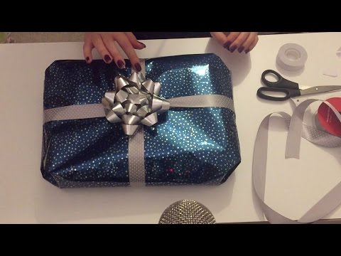 ASMR Gift Wrapping ~ Crinkly Sounds