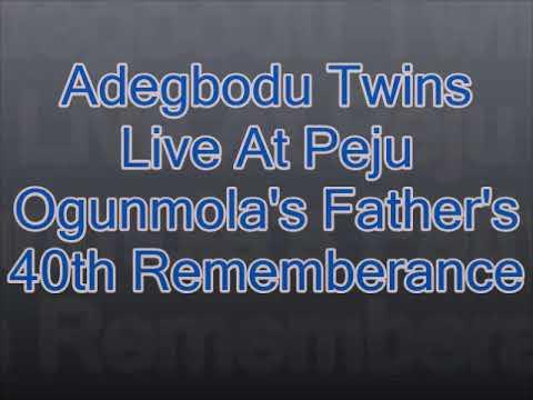 Download Adegbodu Twins Live at Peju Ogunmola's father's 40th Rememberance