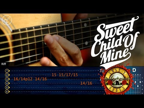 Sweet Child o Mine Guitarra Acustica   GUNS N´ROSES   SOLO 1 Christianvib