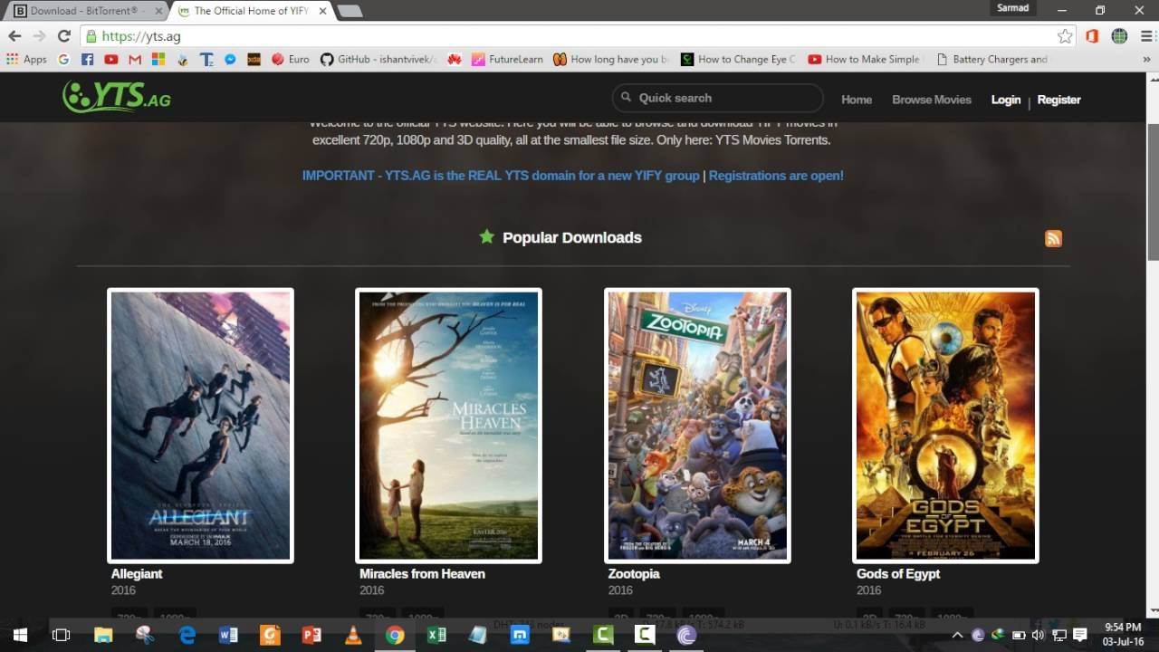 How To: Download HD(720p and 1080p) Movies using bitTorrent/uTorrent  [YTS AM] YIFY