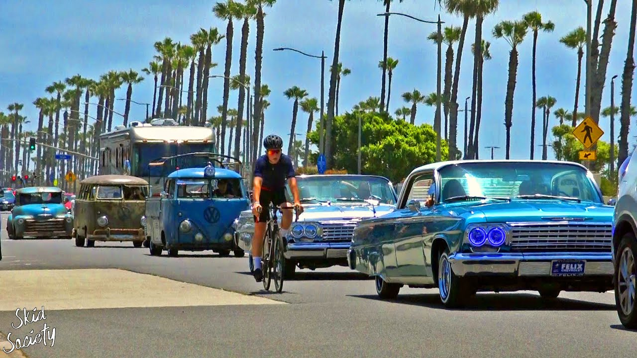 Hot Rods in Huntington Beach California Classic Car Cruise