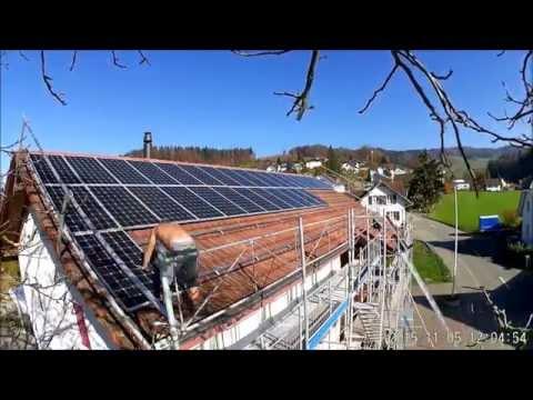Solaranlage 16,5 kWp Aufbau im Zeitraffer 60 PV-Module für Solarstrom